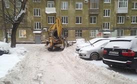 Механизированная уборка придомовой территории по адресу ул. Уральская, 113