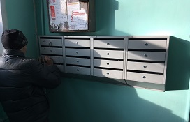 Замена почтовых ящиков в доме по адресу ул. Студенческая, 22