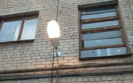 Восстановление освещения в доме по адресу ул. Студенческая, 18