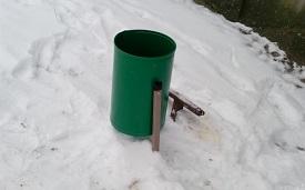 Установка мусорных урн на придомовой территории по адресу ул. Авиационная, 51