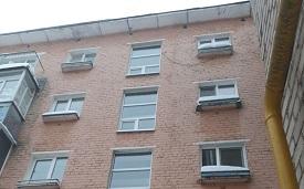 Замена окон в доме по адресу ул. Крупской, 57