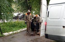 Промывка канализации дома по адресу ул. Лебедева, 38