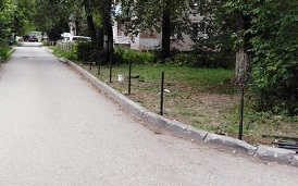 Монтаж ограждения на придомовой территории по адресу ул. Старцева, 35